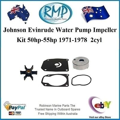A Brand New Evinrude Johnson Water Pump Kit 2cyl 50hp 55hp 1971-1978 # 389133KIT