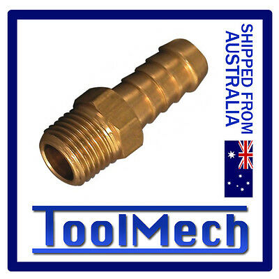 """1 Pc Hose Barb Male Air Fitting 1/4"""" Thread Suit 3/8"""" (10Mm) Hose Free Shipping"""