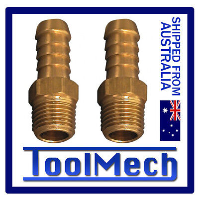 """2 Pc Hose Barb Male Air Fitting 1/4"""" Thread Suit 3/8"""" (10Mm) Hose Free Shipping"""