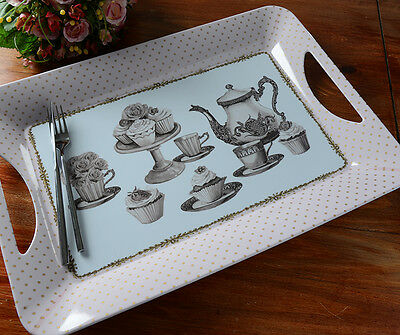 KATIE ALICE Cupcake Couture SHABBY CHIC Large Melamine Tray