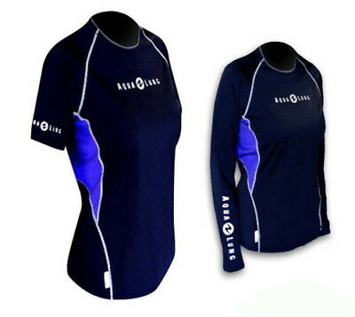 Aqualung  Loose Fit  Damen RASH GUARD Lady Sleeve Lang - oder Kurzarm RASHGUARD