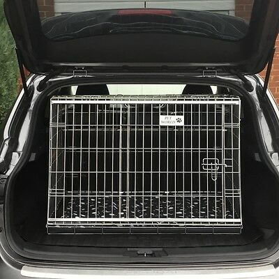 Nissan Qashqai 07 - 13 Sloping Car Dog Cage Boot Travel Crate Puppy Guard