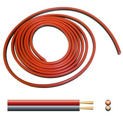 10A Automotive DC Power Cable - Twin Core Figure '8' 12V Black/Red - per 2 metre