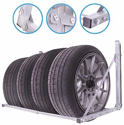 Garage Car Van 4X4 Folding Wall Mount Spare Tyre Wheel Storage Rack Shelf Rack