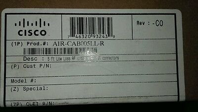 NEW CISCO AIR-CAB005LL-R 5FT LOW-LOSS Antenna cable