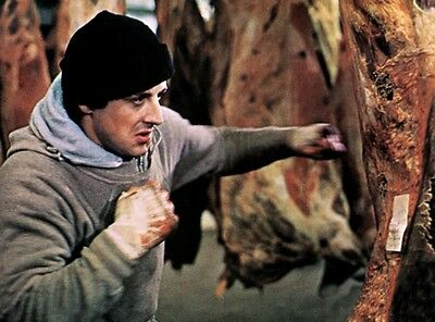 Rocky Sylvester Stallone Fighter Boxing Movie 8X10 Color Photo - Meat Locker!!