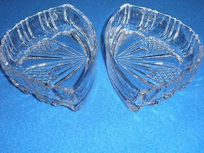 Retro 24% Lead  Crystal Patterned Dishes X 2