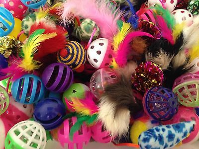 Bulk Toys Cat Kitten Dog Pet Play Feather Catnip Mouse Ball Buy 10 Get 2 FREE