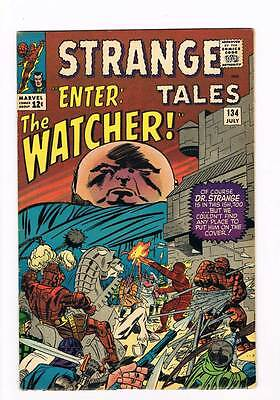 Strange Tales # 134  Human Torch Doctor Strange grade 8.0 scarce hot book !!
