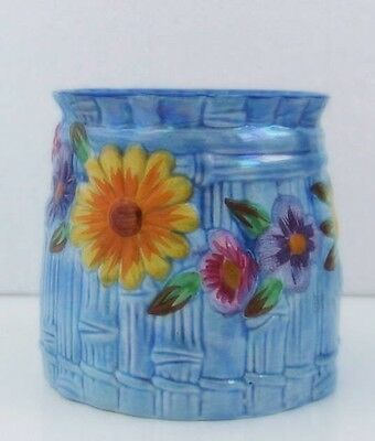 Small and Colourful Maling Floral Pot