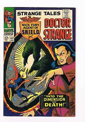 Strange Tales # 152  Nick Fury  Doctor Strange grade 8.5 scarce hot book !!