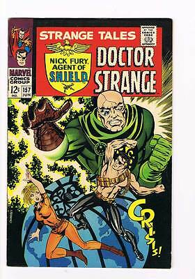 Strange Tales # 157  Nick Fury  Doctor Strange grade 8.5 scarce hot book !!