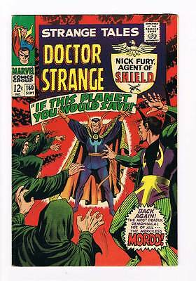 Strange Tales # 160  Nick Fury  Doctor Strange grade 8.5 scarce hot book !!