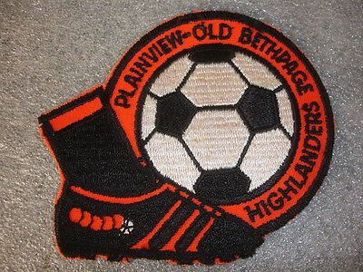 Vintage PLAINVIEW OLD BETHPAGE NEW YORK HIGHLANDERS SOCCER PATCH Long Island