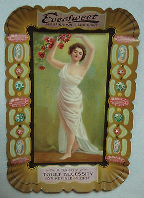 Mint, Nos, Eversweet Deodorant Tin Litho Advertising Tip Tray Beautiful & Mint