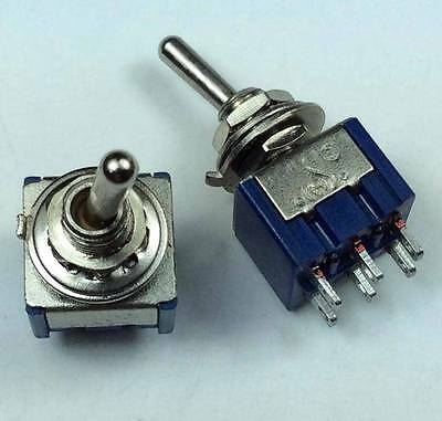 10pcs 6-Pin DPDT ON-ON 2 Position AC MTS-202 Toggle Switch 6A 125VAC #K406-3
