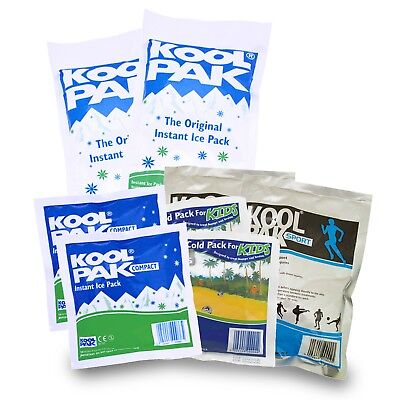 Various Koolpak Instant First Aid Ice Packs With Optional Covers (Disposable)