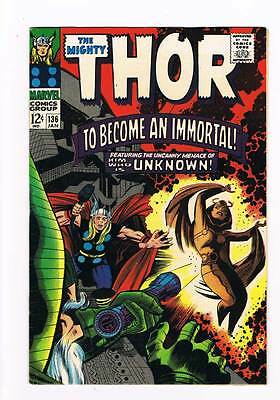 Thor # 136  To Become an Immortal !   grade 8.5 scarce hot book !!
