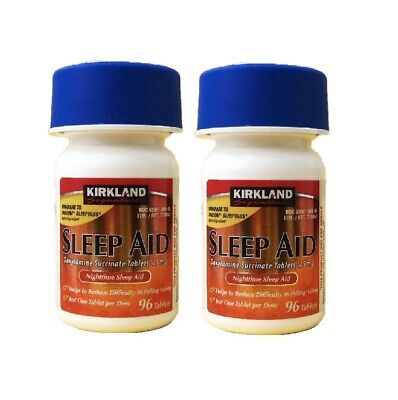 192 Tablets Kirkland Sleep Aid Doxylamine Succinate 25mg
