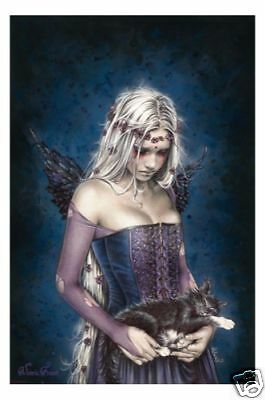 VICTORIA FRANCES POSTER =ANGEL OF DEATH= NEW 61x91cm * gothic girl holding cat
