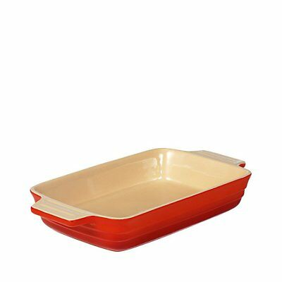 NEW Chasseur La Cuisson Rectangular Dish 26cm Red (RRP $47)