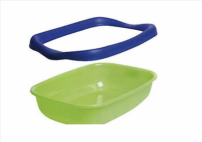 Cat Litter Tray With Removable Rim Assorted Colors