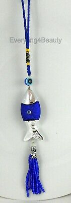 Pendant charm lucky evil eye Blue glass amulet car wall hanging  Feng Shui 1