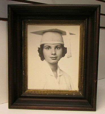"""Antique Edwardian Shadow Box All Wood Picture Frames 14"""" x 12"""" ~ 11"""" x 9.25"""""""