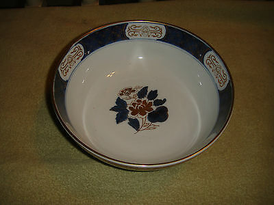 Superb Gold Imari Japan Hand Painted Floral Bowl-Gold Trim-Lovely Bowl-Marked