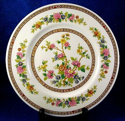 "Coalport: 12 ""Flower of Tibet"" Bone China  Dinners Made in England  - Estate"