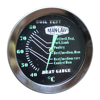 New Man Law Meat Gauge Thermometer with Glow Dial - Range 40 to 80 Degrees Celsi