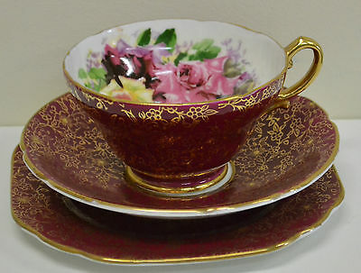 Stunning Stanley Trio Featuring Roses in Maroon, Perfect Condition, Like New