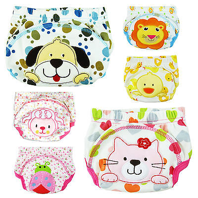 3pcs Baby Boy Girl Infant Kids Toilet Potty Training Pants Cloth Underwear Nappy