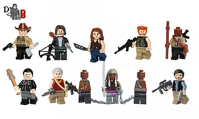 The Walking Dead 9 pack of Minifigures. Made using LEGO & custom parts.
