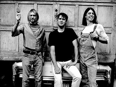 New Nirvana Band Members Dave Kurt Krist Music Picture Art Print Premium Poster