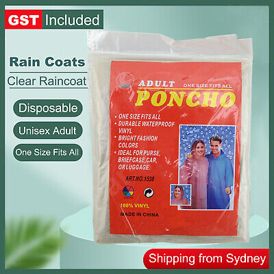 1x Disposable Ponchos Emergency Rain Coats Adult Raincoat Poncho Camping Hiking