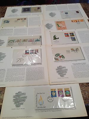 Huge Lot First Day Covers Stamps Christmas Around World 1980's Readers Digest