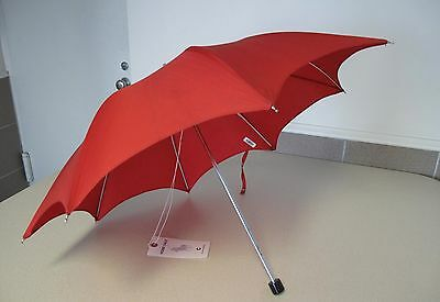 "Umbrella Small Red Vintage for Child short black handle 20"" 50cm"