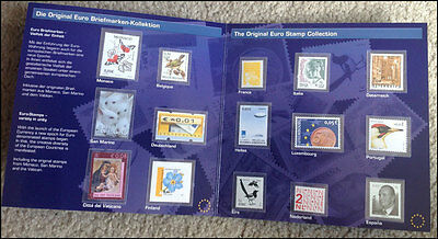 EU Stamps - Last National Stamps of the  15  EU Members (2004).  MNH in Folder.