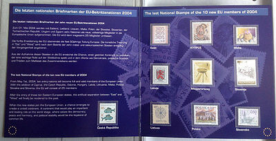 EU Stamps - Last National Stamps of the 1 New  Members (2004).  MNH in Folder.