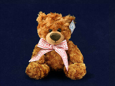Lot of 10 Red Ribbon Teddy Bears