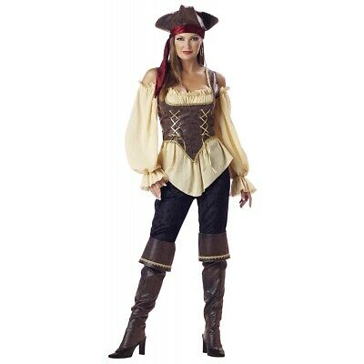 Pirate Costume Women Adult Deluxe Halloween Fancy Dress