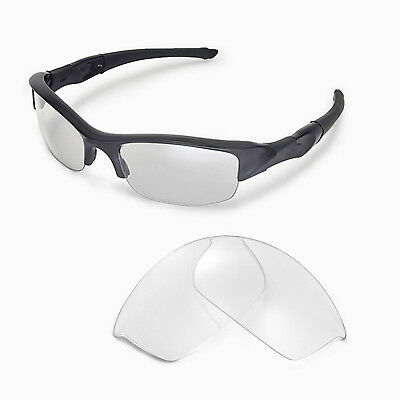 New Walleva Clear Replacement Lenses For Oakley Flak Jacket Sunglasses