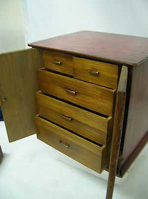 Antique Wooden Utility Box Japanese Drawers Circa 1930s #143