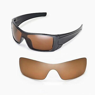 New Walleva Polarized Brown Replacement Lenses For Oakley Batwolf Sunglasses