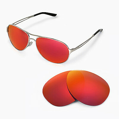 New Walleva Polarized Fire Red Replacement Lenses For Oakley Caveat Sunglasses