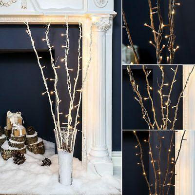 87cm Plug In Twig Branch Decoration with LED Fairy Lights | Home Vase Natural