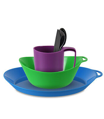 Lifeventure Ellipse - Camping Mug, Plate, Bowl, Cutlery - 4 colours  mix & match