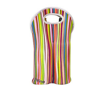 NEW Go Vino Two Bottle Bag Stripes