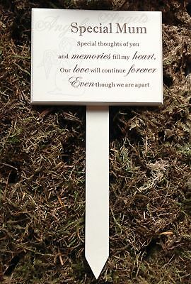 Memorial For Special Mum Wooden Grave Stick, Stake Ornament Funeral Tribute